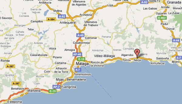 Map Costa del Sol